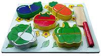 Mainan Kayu eEdukatif Untuk Anak Puzzle Sayur Potong