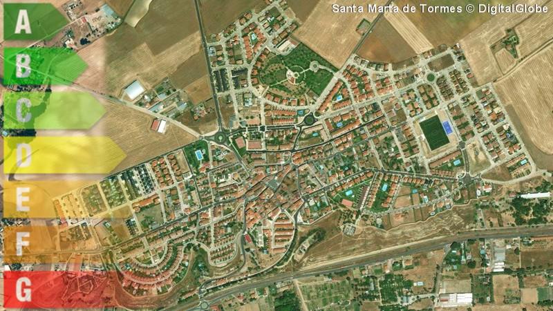 certificado energetico de vivienda y local en santa marta de tormes