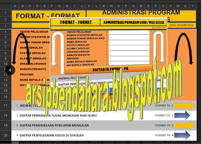 Aplikasi Adminitrasi Guru - Wali Kelas Lengkap Dengan Format Excel Tahun 2016/2017 Sebagai Bukti Akreditas
