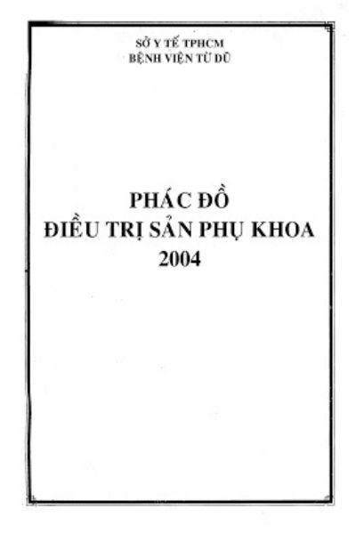 Phac do dieu tri san phu khoa