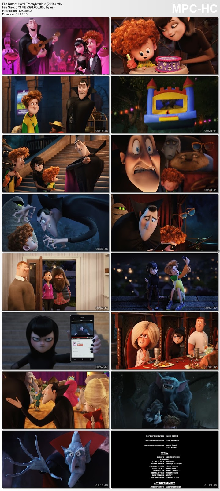 Hotel Transylvania 2 2015 Dual Audio Hindi 480p BluRay 300MB Desirehub