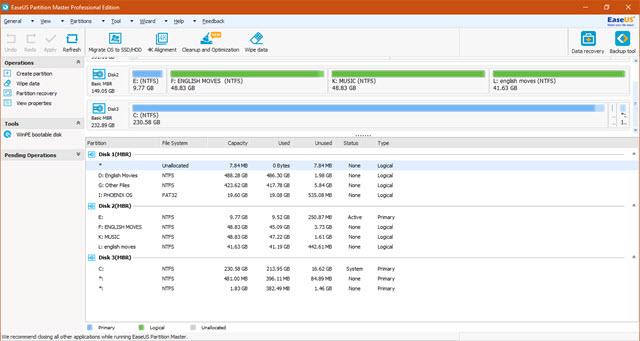 تحميل برنامج Easeus Partition Master Pro مجانا ولمدة يومين