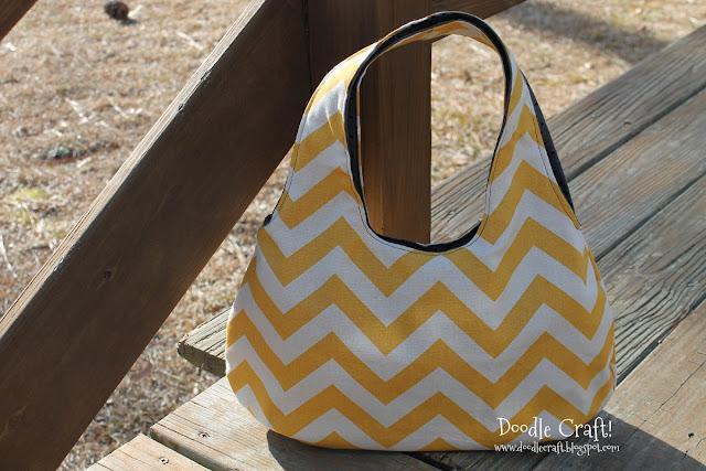 Reversible Fabric Shoulder Bag