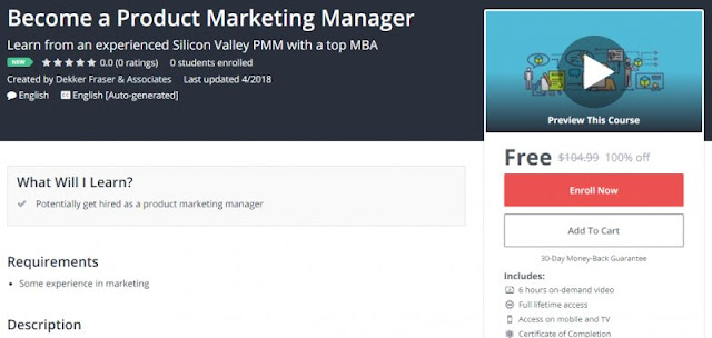 [100% Off] Become a Product Marketing Manager  Worth 104,99$