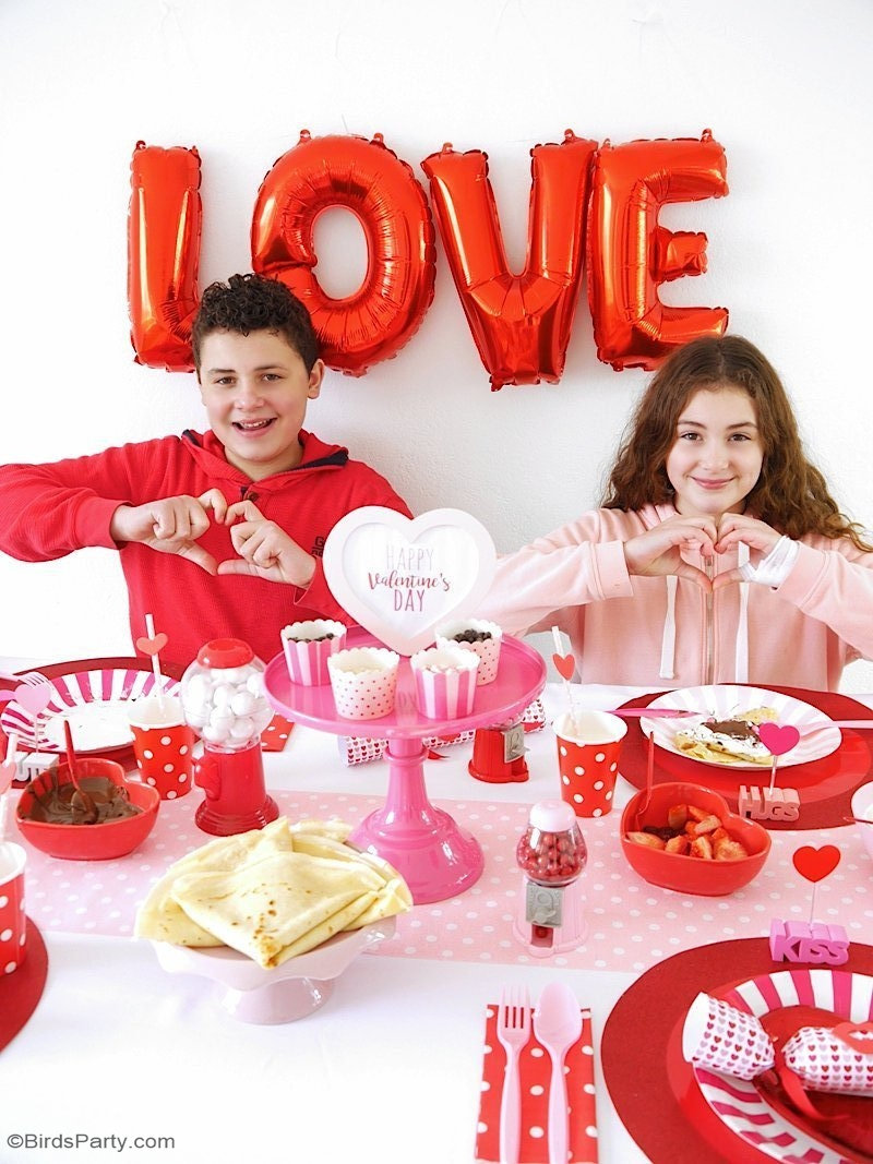 A Valentine's Day Crepe Party with Free Printables