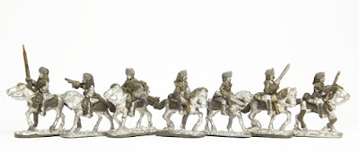 French Dragoons in fur hats