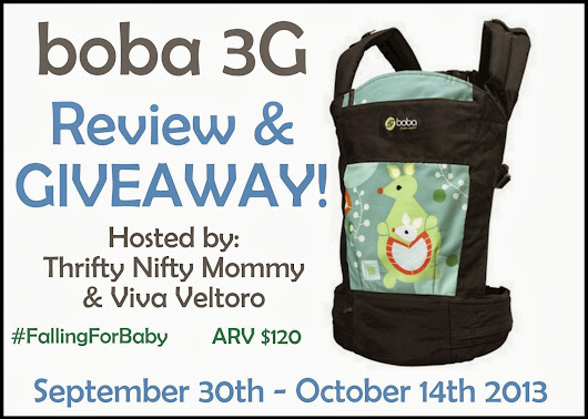 Thrifty Nifty Mommy: boba 3G Baby Carrier #FALLingForBaby