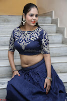 Ruchi Pandey in Blue Embrodiery Choli ghagra at Idem Deyyam music launch ~ Celebrities Exclusive Galleries 052.JPG