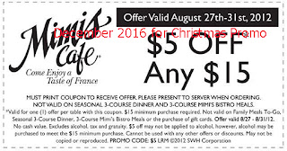 free Mimis Cafe coupons for december 2016