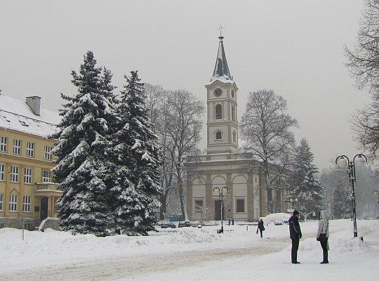 Wisła, Plac Hoffa. Kościół ewangelicki z 1838 roku.