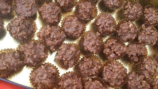 bombones caseros muesli chocolate turrón praliné café navidad navideños celebración fiesta sencillos ricos cuca sin horno
