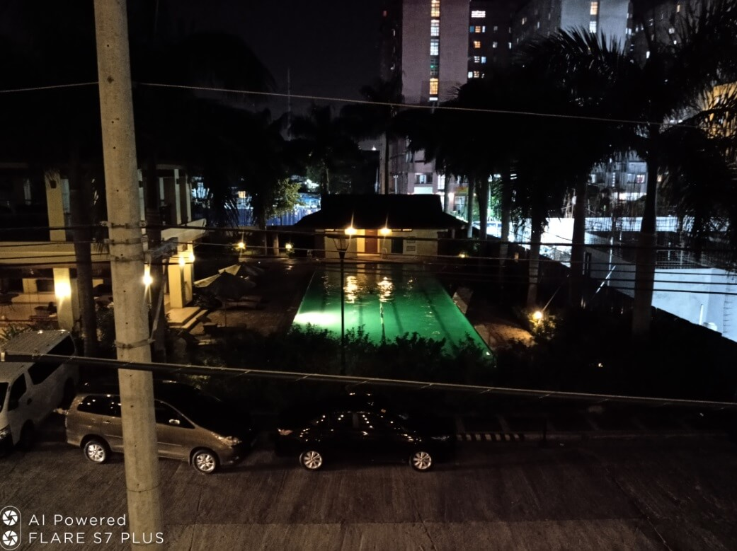 Cherry Mobile Flare S7 Plus Front Camera Sample - Night, Swimming Pool