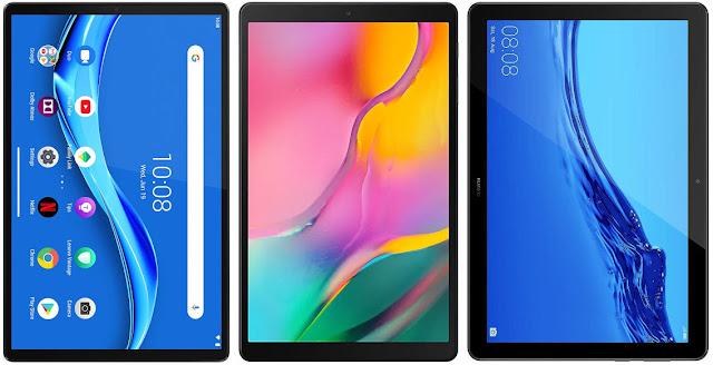 Lenovo Tab M10 FHD Plus vs Samsung Galaxy Tab A 10.1 (2019) vs Huawei Mediapad T5 10