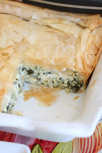 Spanakopita Casserole | Tortillas and Honey