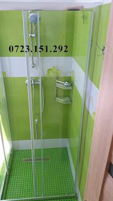 cabina de dus verde Casa la cheie. Constructii Constanta. Piscina Foisor, Case la rosu. Judetul Constanta