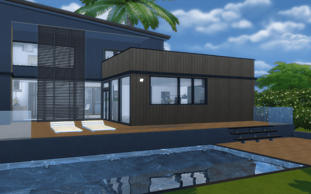 villa contemporaine sims 4
