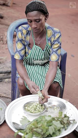 Simple vegetarian African food