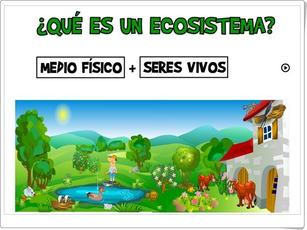 """""""¿Qué es un ecosistema?"""" (Ciencias Naturales de Primaria)"""