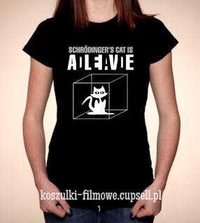 Koszulka z kotem Schrodingera