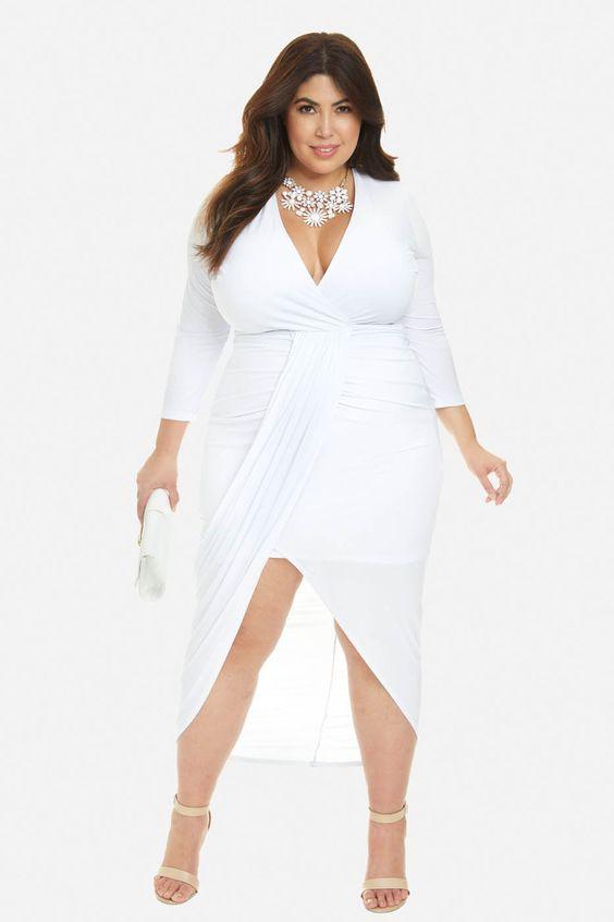 ced2b1b70329 Vestidos blancos para gorditas
