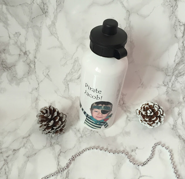 personalised pirate water bottle for children