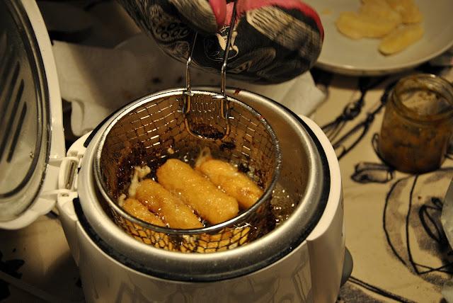 Mozzarella paniert und frittiert