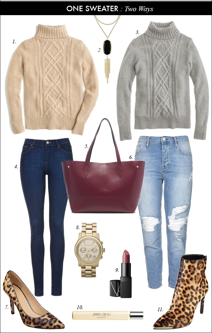 turtleneck sweater, j. crew, michael kors, rayne kendra scott necklace, distressed denim, burgundy, wine