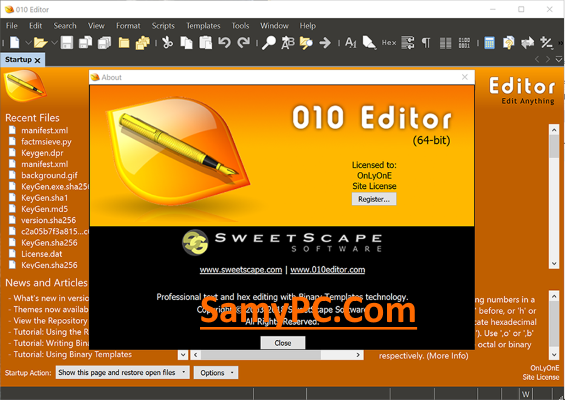 SweetScape 010 Editor Free Download Full Version