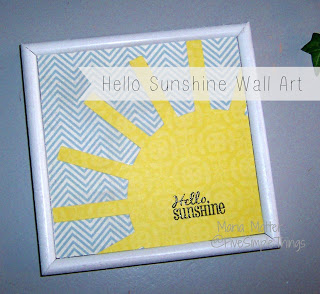 Hello Sunshine simple DIY wall art using your Cricut