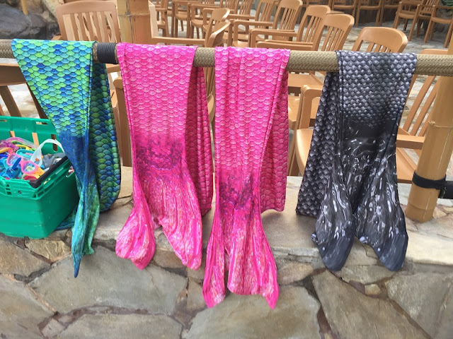 mermaids and sharks tails at center parcs