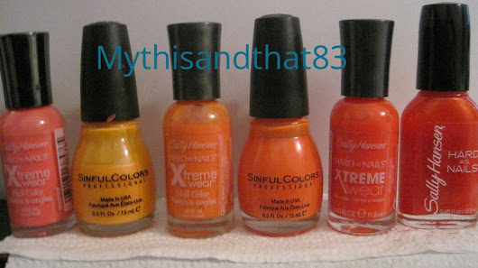 Collection in Swatches # 3: Oranges!