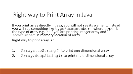 How to print array elements in Java