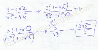 (3-3√2)/(√5-√10) solved