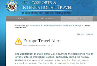 Europe Travel Alert Warns US Citizens