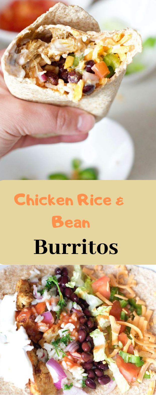 CHICKEN RICE AND BLACK BEAN BURRITOS #dinner #yummy
