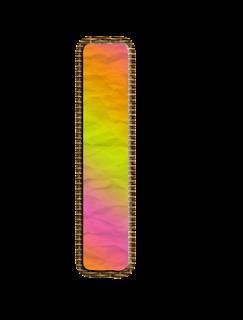 Abecedario con Arco Iris en Tonos Pastel. Alphabet with Pastel Colors Rainbow.