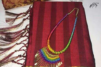 Stylish cotton saree with Necklase | Buy online Cotton Sarees