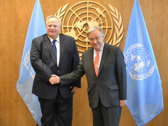 There is an open window for talks about the name dispute, said Kotzias after the meeting with Guterres