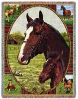 thoroughbred horse blanket throw tapestry afghan