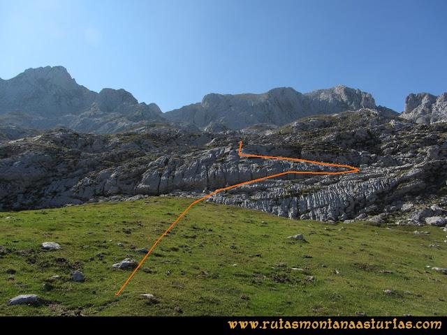 Ruta Ercina, Verdilluenga, Punta Gregoriana, Cabrones: Saliendo de la Vega de Aliseda