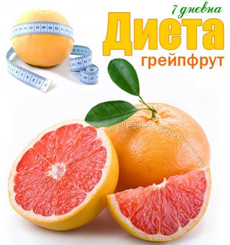 7 дневна диета за отслабване с грейпфрути