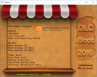 DLCBoot menu