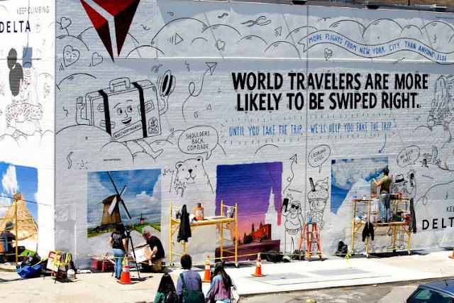 delta-tinder-campaña-muro-pintado-fotografias-ciudades-famosas