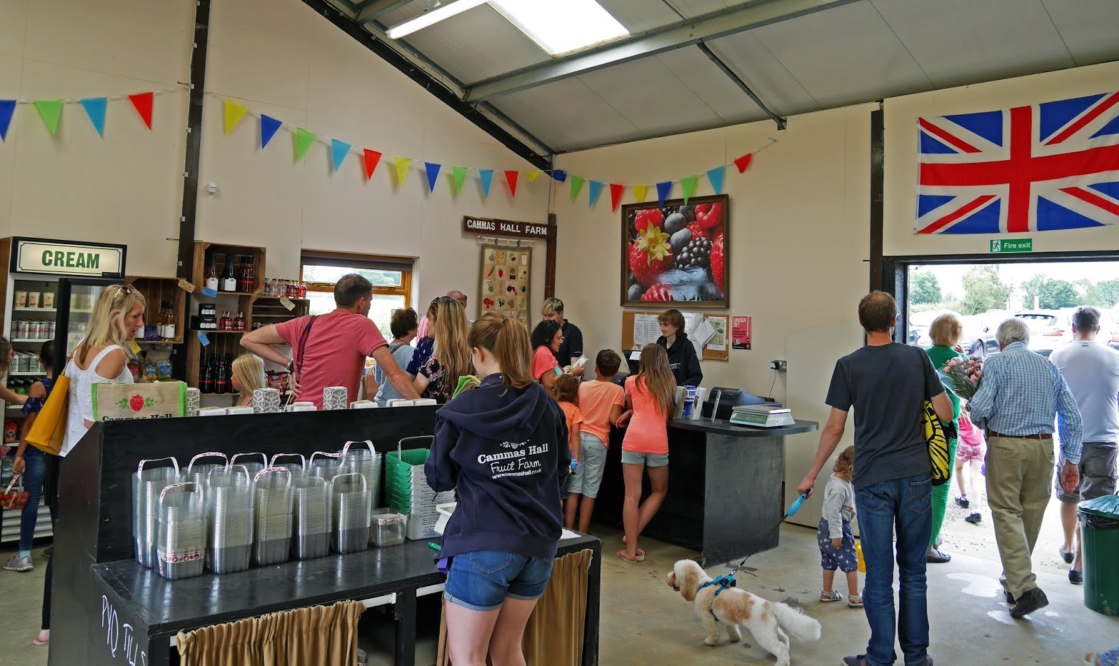 The shop and tills at Cammas Hall Fruit Farm in Essex