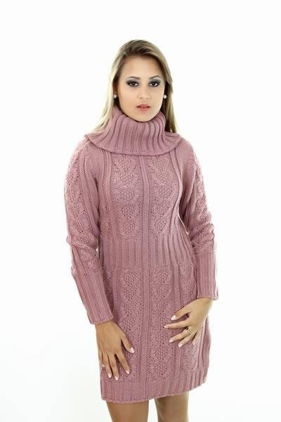 vestido de lã rosa - dicas e fotos para vestidos de inverno