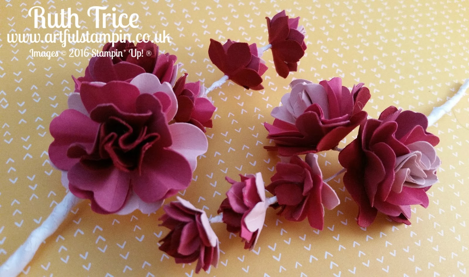 Artful stampin uk independent stampin up demonstrator ruth paper flower corsage tutorial mightylinksfo