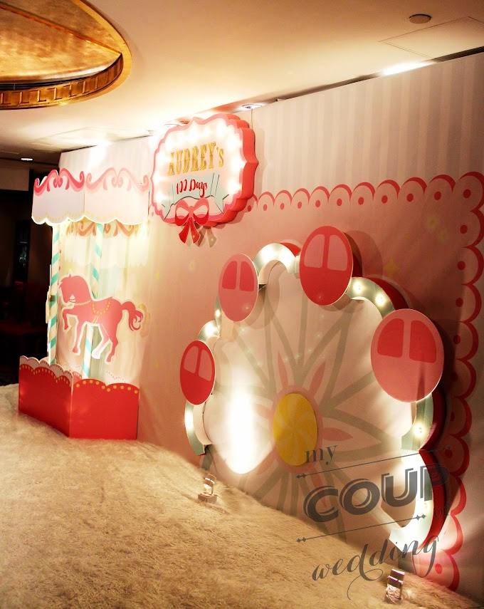 100 Days Celebration Party Decoration - Playground Theme @Sheraton Hong Kong Hotel
