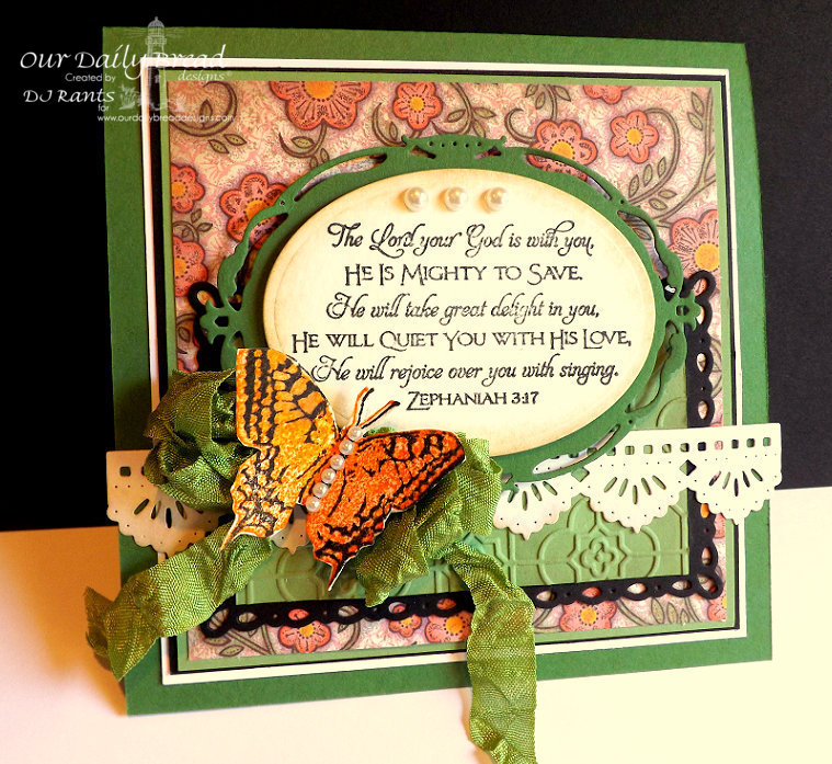 Our Daily Bread Designs, 2 step butterfly, scripture series 1, Beautiful Borders dies