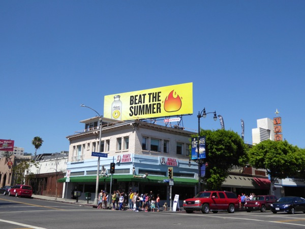 Beat Summer heat Huberts Lemonade billboard