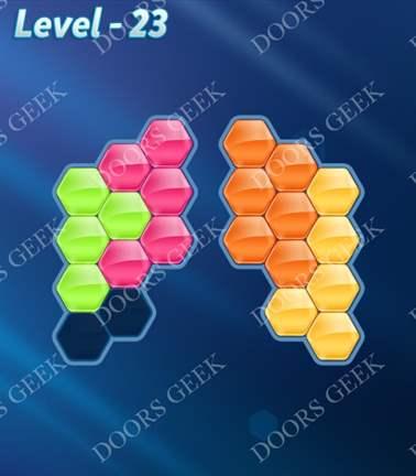 Block! Hexa Puzzle [Rainbow A] Level 23 Solution, Cheats, Walkthrough for android, iphone, ipad, ipod